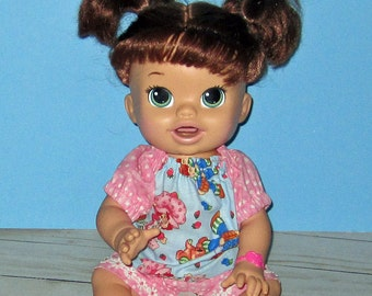 Snackin Sara, Baby Alive, Strawberry Shortcake, Huckleberry Pie, Short and Top,  Fits 15 16 Inch Doll   Doll Clothes