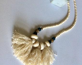 Tassel necklace, tribal necklace, Boho necklace, Statement necklace