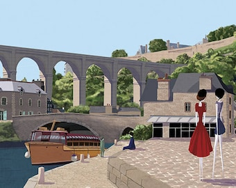 Dinan - 11x8 or 16,5x11 inches fine art print - Signed - Print by a professional