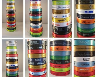 15mm Corporate Ribbon for Gift Wrap Packaging. Display your logo on our quality ribbon