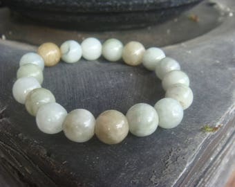Amazonite Bracelet - Boho Bracelet - Wrist Mala Courage - Compassion - Truth - Calming - Communication - Yoga
