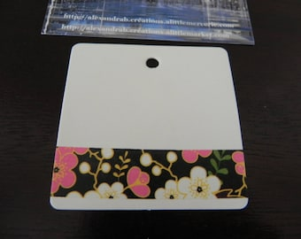 FLORAL collection: 10 in strong white 6 x 6 cm decorated