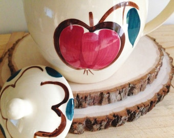 Purinton Pottery Fruits Teapot with Apple and Pear