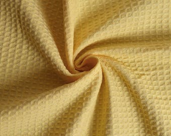 Terry cloth yellow honeycomb (by the yard)