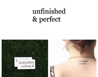 Imperfection - Temporary Tattoo (Set of 2)