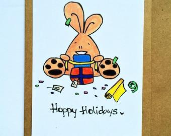 CLEARANCE: Hoppy Holidays Bunny card