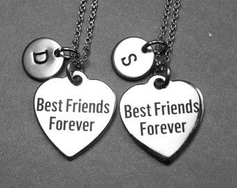 Collier de toujours meilleurs amis, meilleurs bijoux amis, meilleur collier amis, meilleurs amis coeur collier, Collier coeur, collier BFF