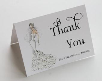 Sassy Bride Bridal Shower Thank You Cards