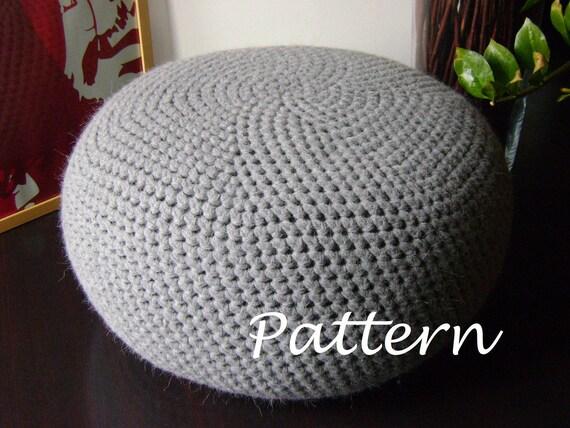 Crochet Pattern Diy Tutorial Xl Large Crochet Pouf Poof Ottoman