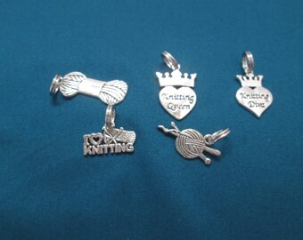 Silver Knitting Markers/Charms