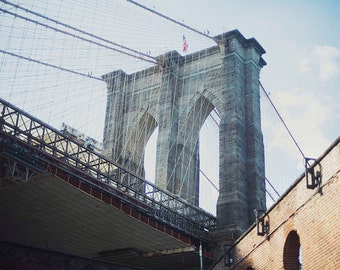 Brooklyn Bridge III - 8x10 Fine Art Photograph, NYC, Brooklyn, Dumbo, Wall Art