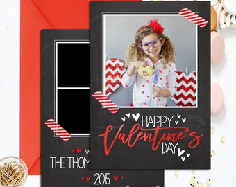 Valentine 5x7 double sided card PSD, photoshop template for professional photographers, VAL04, 5x7 valentine card, double sided valentine