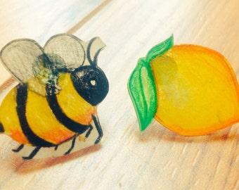 Handmade Lemonade Earrings