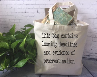 funny canvas tote bag/ funny office bag/ office gag gift