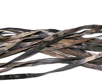 5YD SNAKESKIN Hand Dyed Silk Cording//4MM Hand Dyed DIY Silk Necklace/Bracelet Cording//Hand Dyed 5YD. Silk Cording Bundles