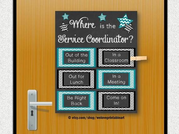 Office Decor Service Coordinator Gift Back To School Door