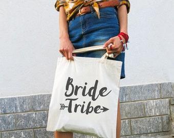 Bride tribe tote bag-bride tote bag-wedding bag-bridesmaid tote bag-maid of honor tote bag-wedding boho bag-custom bag-NATURA PICTA-NPTB096