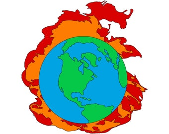 World on Fire Pin (Magnet Backing)
