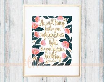 Psalm 37:6 Print
