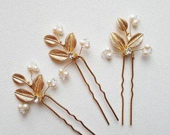 Wedding Hair Pins, Gold Hair Pins, Bridal Hair Accessory