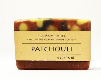 Patchouli Soap, Organic Soap, Hemp Oil Soap, Natural Soap, Handmade Soap, Gift for Men, Patchouli, Cold Process Soap, Bar Soap, Artisan Soap