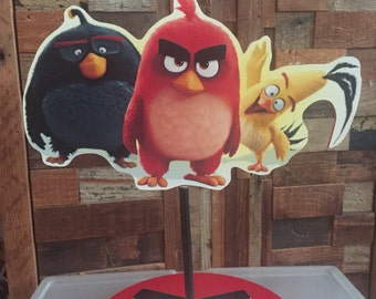 Angry Birds Centerpiece, red, chuck, bomb Angry bird party centerpieces