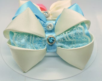 cat bow tie - luxury cat bow tie -  satin bow tie for cat and kitten -  cat collar bow