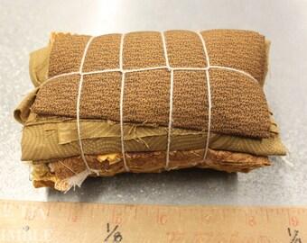 Fabric Scraps / Vintage Fabric Scraps / Fabric Scrap / Scrap Fabric / Fabric Grab Bag / Gold Scrap Bundle / Fabric Destash / Quilt / SB56