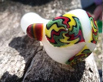 White and Rasta pipe