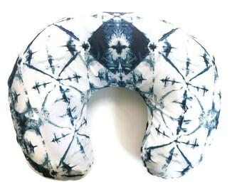 Nursing Pillow Cover Indigo Window Crystal - Nursing Pillow Cover - Indigo Boppy Cover - Boppy Pillow Case - Boppy Slip Cover - Tie dye