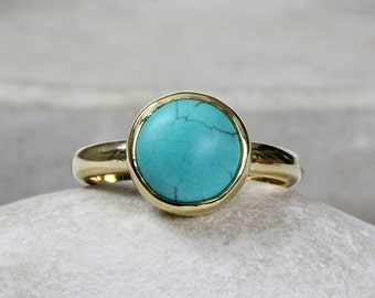 SUMMER SALE - Turquoise ring,December birthstone ring,gold ring,stackable rings,stacking rings,gold stack ring,gemstone ring