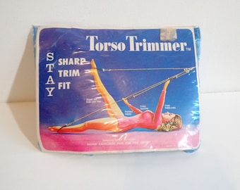 Vintage Torso Trimmer Exercise Band Workout Kitsch Gift 60s MCM Fitness Accessories In Original Packaging, Film TV Prop Collectible