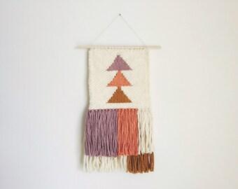 SALE. gemma. a boho triangle tapestry weaving