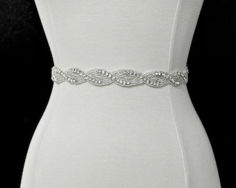 Bridal crystal belt , rhinestone sash, bridal sash, bridal belt