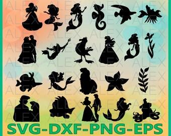 70% OFF, Mermaid Silhouettes SVG Files, Mermaid Svg Files, Mermaid Svg, Dxf, Png, Ai File, Instant Download