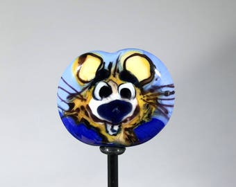 NEW! Mouse Focal Lampwork Glass Bead - CharacterZ Collection