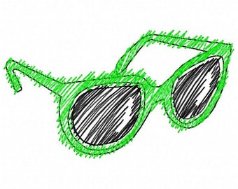 Sunglasses Embroidery Design - Instant Download