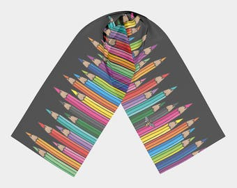 Long Scarf - Coloured Pencils (2 Sizes)