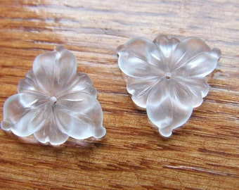 Frosted Crystal FLower Beads 2