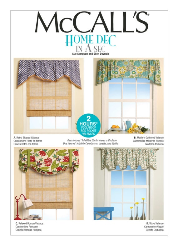 Sewing Pattern for Four Window Valances Patterns, McCall\'s Pattern ...