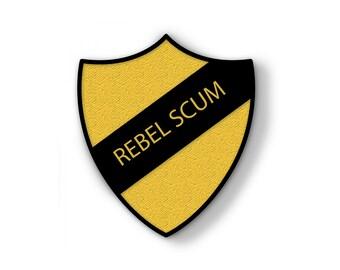 PRE ORDER Star Wars, Rebel Scum, Prefect, Hard Enamel Pin, School Shield Pins, Lapel Badge, Han Solo, Geek, Jedi, Stormtrooper