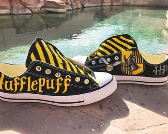 Custom harry potter inspired Hufflepuff hand painted shoes...
