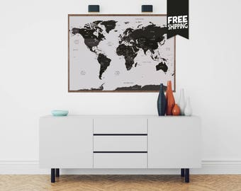 World map poster etsy world map world map wall art world map print world map poster gumiabroncs Image collections