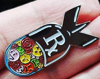 Pill Bomb | Rx Yo'Self | Pill Pin | Punk Enamel Pin | backpack pin | gift for him | gift for her | sad rebellion anxiety | gift for women