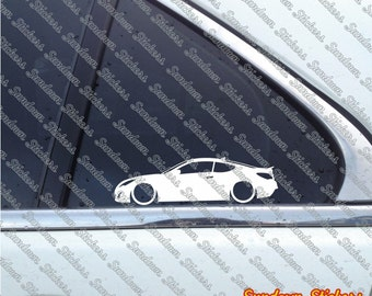 2X Low Car Outline Stickers   For Hyundai Genesis Coupe