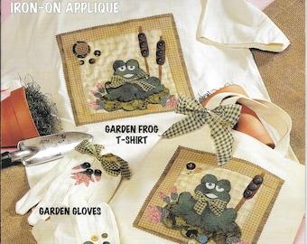 McCall's Creates, Garden Patches, Garden Frog, Gift for Gardener, Frog Design, New Leaflet, Garden Gloves, Frog Tote, Sewing, Frog Applique