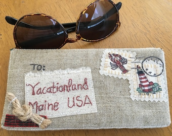 Downeast Maine Theme Glasses Case