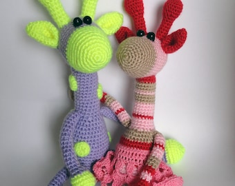 Crochet toy Crochet amigurumi toy Giraffe crochet toy Giraffe toy Crochet giraffe Stuffed toy Crochet animals Handmade crochet Multicolored