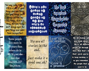 Planner Quote Boxes - Doctor Who full box happy planner erin condren stickers matte glossy weekly sticker kit