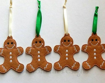 ITH Gingerbread Man Christmas Ornament (4x4) Instant digital download